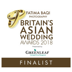 Best Asian Wedding Photographer Award Finalist 2018
